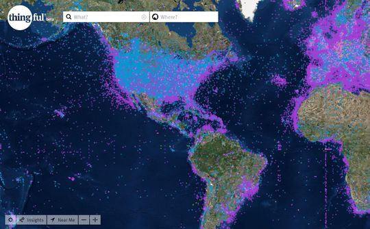 IoT Search Engine: Picture of a Map
